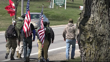 Local veterans walk 92-miles for PTSD awareness