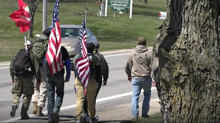 Local veterans walk 92-miles for PTSD awareness