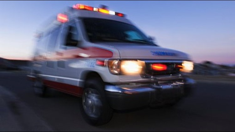 A 1 year-old boy was rushed to the hospital after he was accidentally run over by his father's truck.