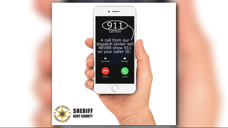 Kent County Sheriff's Office warns of 911 caller ID scam
