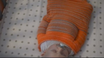Swaddle solution? Grand Rapids mom creates 3D knit sleep sack
