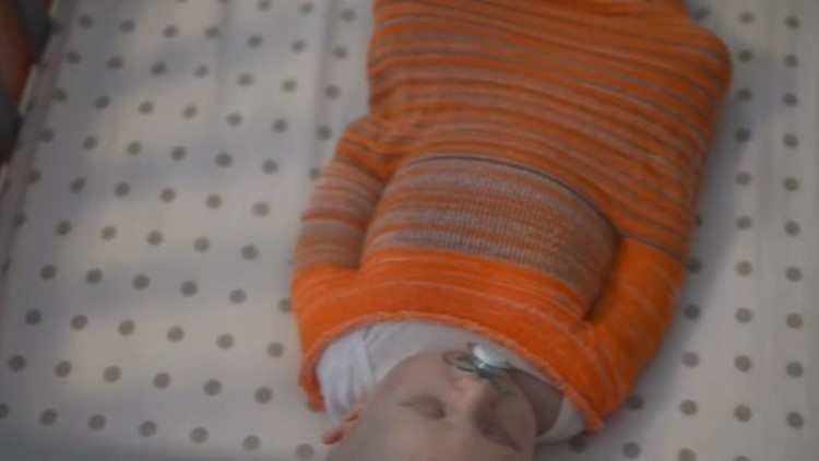 Swaddle solution? Grand Rapids mom creates 3D knit sleep sack