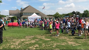 Meijer LPGA gives young golfers a chance to learn from the pros at free clinic