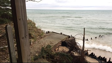 State eases sandbag permit process for lakeshore residents to protect homes from erosion