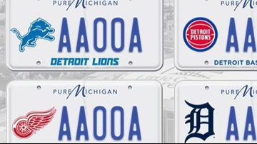License plates featuring Detroit sports teams coming to Michigan
