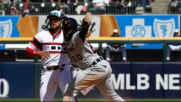 López strikes out 14, White Sox beat Tigers 4-1