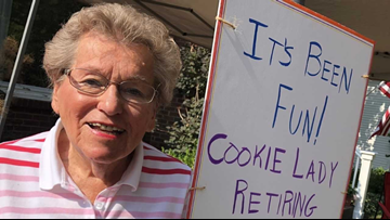 Cookie Lady retires after 25+ years of handing out cookies to Coast Guard parade participants