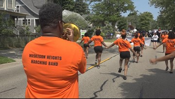 The 'heartbeat of Muskegon Heights' returned to the Coast Guard Festival parade
