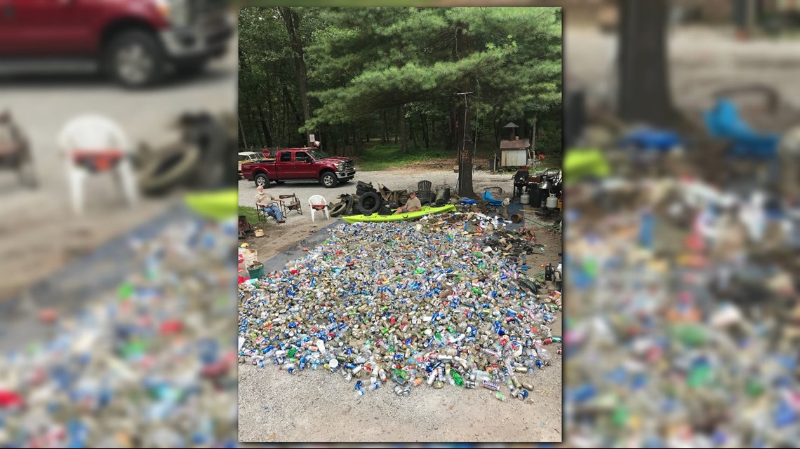 Dump truck size pile of trash removed from Muskegon River