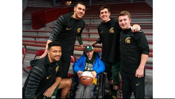 Family cheers on Michigan State to honor superfan son who died of rare cancer
