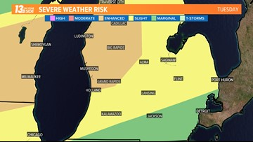 Severe storm threat increases for West Michigan