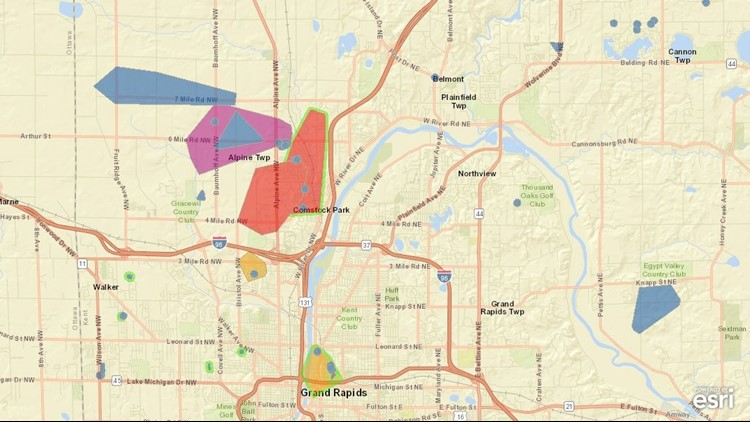 Power Outage Map West Michigan.Scattered Power Outages After Storms Sweep Through West Michigan