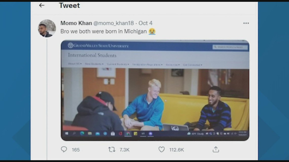'I was born in Lansing': Man goes viral after his photo was wrongfully placed on GVSU international students page