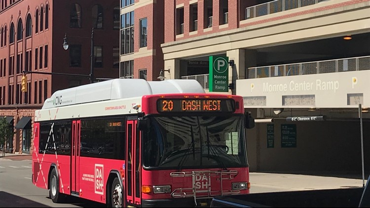 The Rapid suspends DASH service; increases service on 5 routes