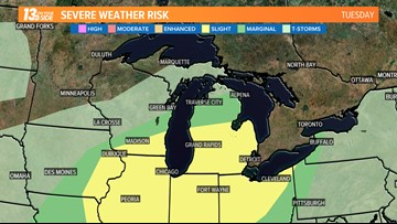 Grab your umbrella: Severe storms possible late Tuesday