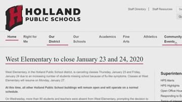 Flu forces Holland elementary school to shutdown