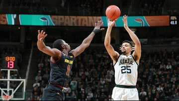 No. 6 Michigan State beats No. 13 Maryland 69-55