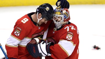 Bobrovsky gets 1st shutout for Panthers, 4-0 over Red Wings