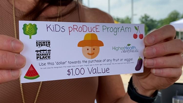 'Kids Produce Program' launches at Holland Farmer's Market