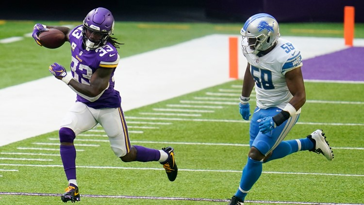 Cook, Vikings top Lions 34-20; Stafford in concussion protocol