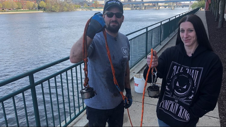 STUCK ON YOU: 'Strong pull' draws Michigan magnet fishing duo together