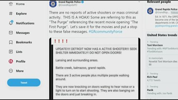 GRPD: 'The Purge' message on social media is a hoax