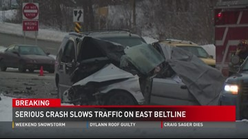 BREAKING: Serious crash slows traffic on East Beltline