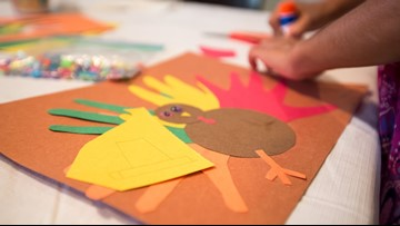 Bring the family together for crafts this Thanksgiving