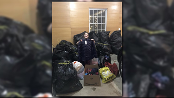 Mom and daughters share in the giving spirit by collecting winter coats for In The Image