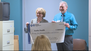Blue Cross Blue Shield of MI presents $75K to local clinics to serve uninsured patients