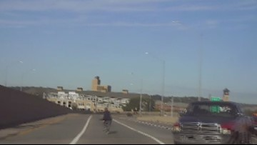 Police release dash cam video of cruiser taking down suspect in Wyoming murder