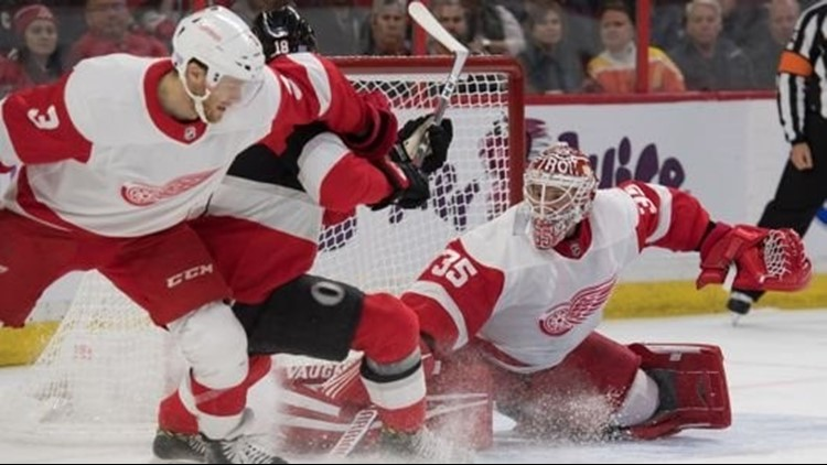 Red Wings streak ends in Ottawa
