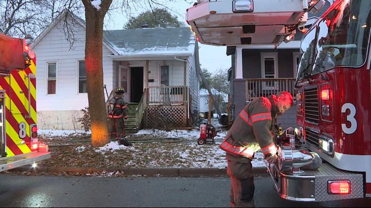 Woman, 6 dogs escape house fire in Grand Rapids