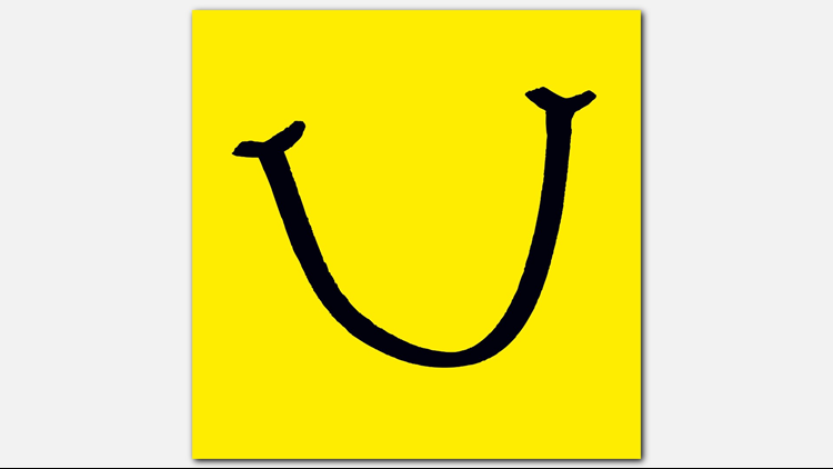 Laughfest smile logo, yellow