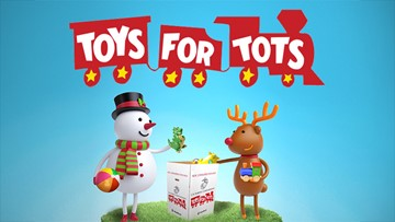 13 ON YOUR SIDE Toys for Tots 2019 School Spirit Scoreboard