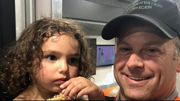 DNR officer: 'Emotional' reunion between missing 2-year-old girl and family