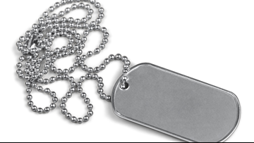 Newaygo man discovers military dog tags while raking in his woods