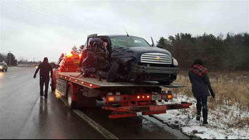 1 hurt in 3-car crash at M-231 and M-104 in Ottawa County