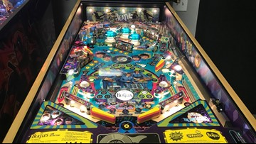 Rare Beatles Pinball Machines being sold by West Michigan gaming retailer