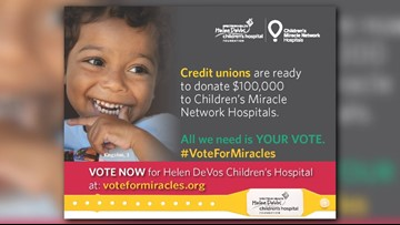 Help Helen DeVos Children's Hospital win $50,000 during #VoteForMiracles