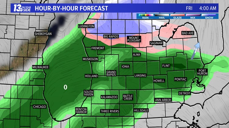 Freezing rain could ice over your Friday morning commute