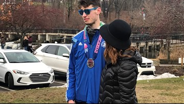 Runner with autism reaches goal to run 2,018 miles this year