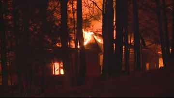 Multiple crews battle house fire in northern Barry County