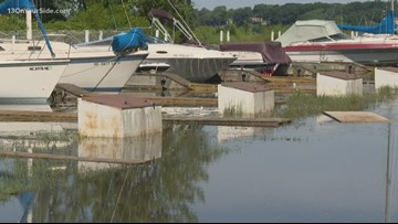 The Hartshorn Marina is closed due to high water