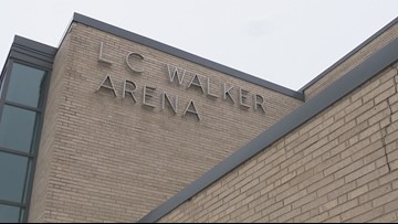 When will L.C. Walker Arena's name change?