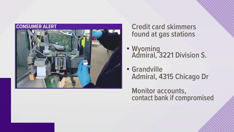 Officials: Credit card skimmers found in gas station pumps across Michigan