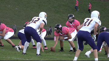Lowell thumps Greenville, and cancer, in Pink Arrow Game