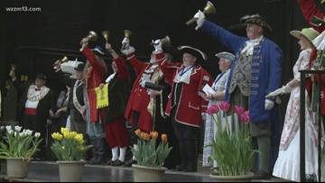 International town crier competition held at Tulip Time