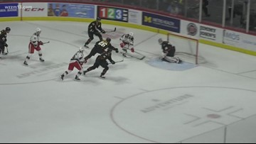 Griffins fall to Monsters