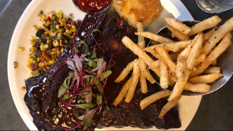 Rack of ribs from Paisley Pub let's eat coast guard